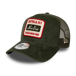 New Era USA Fabric Patch Cord Green Trucker