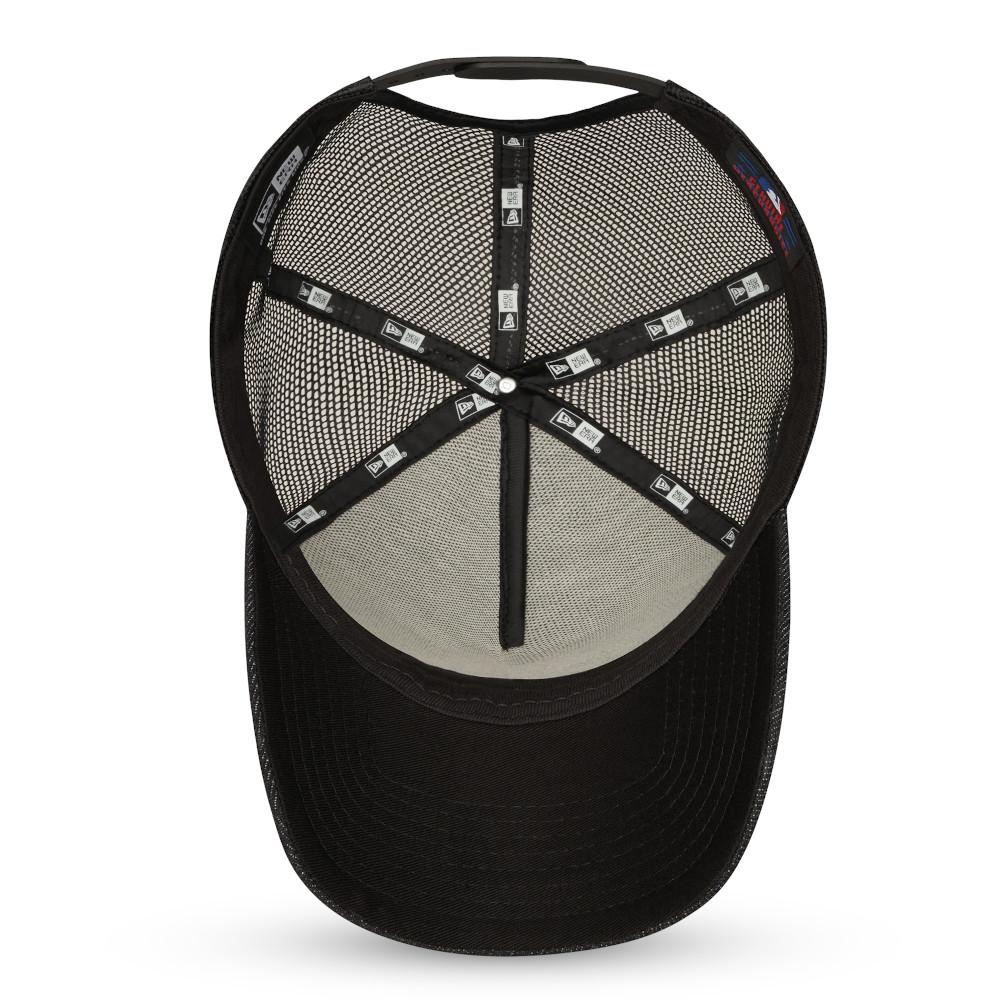 Los Angeles Dodgers Tonal Black A Frame Trucker New Era Cap Co