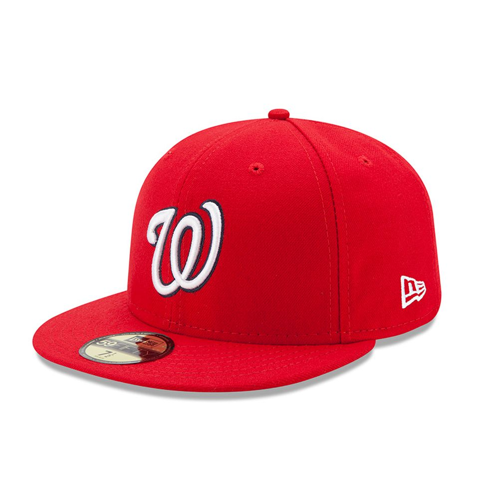 Washington Nationals Authentic On-Field Game Red 59FIFTY